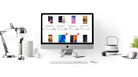 Computadora con diseño web para tu negocio