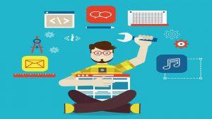 creador de sitios web diseñando