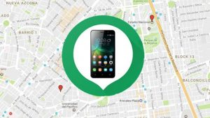 Smartphone sobre mapa